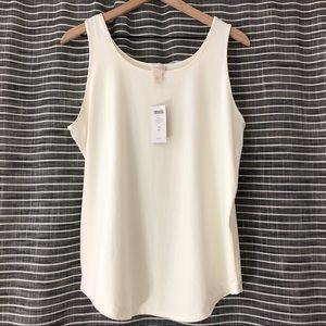 NWT | Chico's | Cream Racerback Tank Top